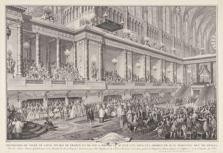 Het onderscheiden van Lodewijk XVI te Reims, 11 juni 1775, Jean Michel Moreau, 1751 - 1814