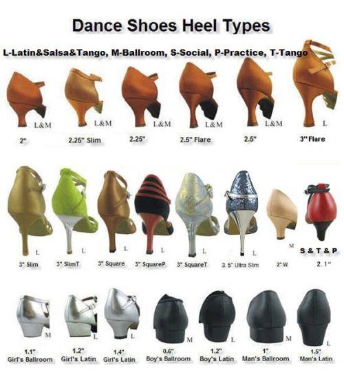 Ballroom Shoes Heel Types