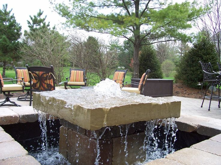 Bpi Outdoor Living Water Feature Fountain With Paver Patio Indianapolis