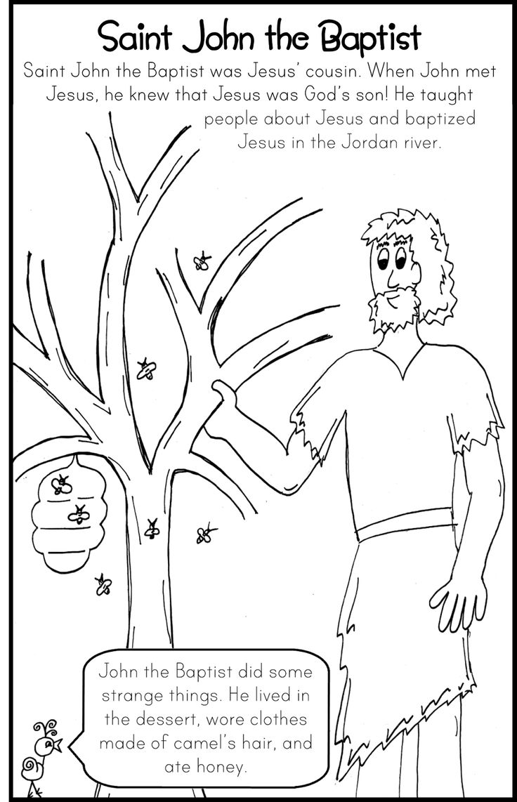 Lovely Baptism Of Jesus Coloring Page 73 Saint John the Baptist