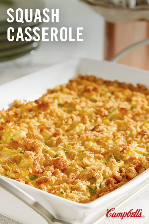 This creamy, crowd-pleasing side dish features summer squash, carrots, stuffing mix and cheese baked in a creamy sauce. Crispy on top and creamy in the center, it's a winner on any menu.
