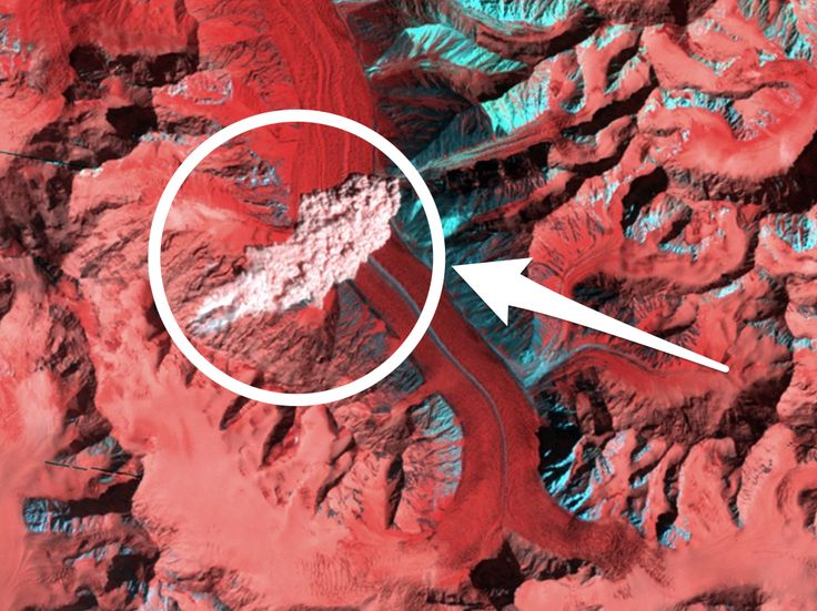 """NASA photographed a huge avalanche from space in what it calls 'a stroke of luck' - A mountain scientist has discovered a rare picture of an avalanche taken by a NASA satellite more than 20 years ago. That an avalanche was photographed from space is """"a stroke of luck,"""" NASA's Earth Observatory said in a July 7 post , shortly after the image was found. Such a photo is highly unusual because avalanches only last seconds or minutes, and NASA's satellite fleet covers some 200 million square…"""