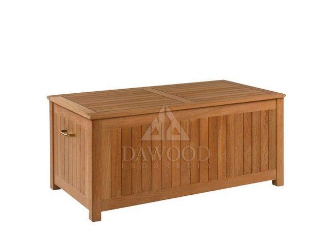 Traditional Teak Outdoor Storage Box