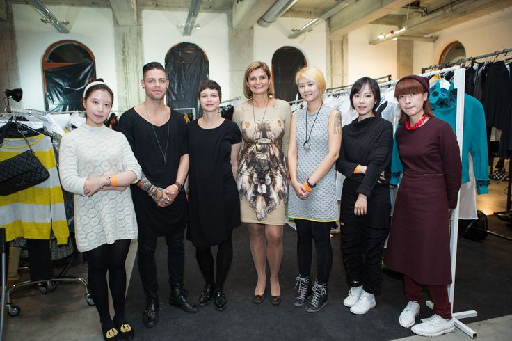 Editor-in-chief with the students of London College of Art, Istituto Marangoni and Kingston University in Marie Claire Fashion Days