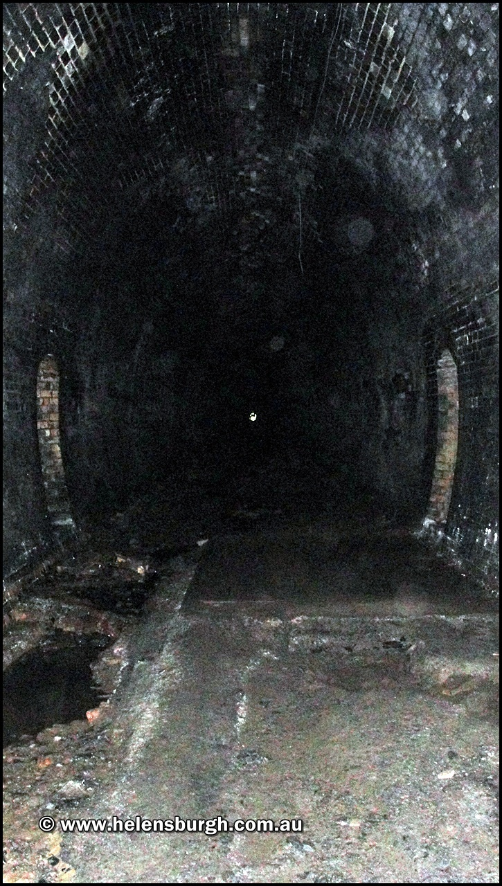 Inside the Otford Tunnel.