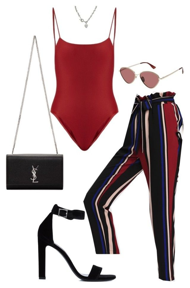 """""""Untitled #5997"""" by lilaclynn ❤ liked on Polyvore featuring Jade Swim, Le Specs, Yves Saint Laurent, Tiffany & Co., YSL, saintlaurent and yvessaintlaurent"""