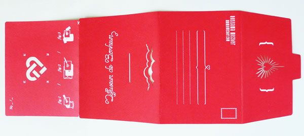 Oussama Mezher's valentine card with stencil