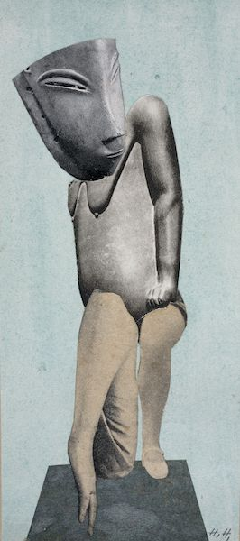 Hannah Höch Collage auf Karton (1924 –1928) Photo courtesy Museum Rietberg