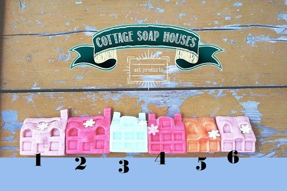 Handmade Soap Houses. Organic Soap. Spring Soap. by ASTPRODUCTS
