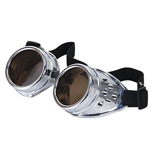 From 6.99 Ultra New Silver With Light Brown Lenses Premium Top Quality Steampunk Goggles Cyber Glasses Victorian Punk Style Welding Cosplay In A Gothic Style Goth Rustic Vintage Copper Round Rave Novelty Cosplay