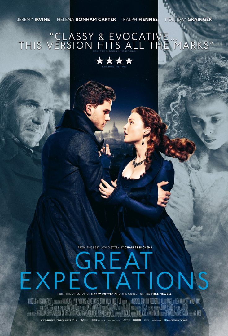 Great Expectations - 01-07-2013 Ralph Fiennes . . . Magwitch Jeremy Irvine . . . Pip Helena Bonham Carter . . . Miss Havisham Jason Flemyng . . . Joe Gargery Robbie Coltrane . . . Mr. Jaggers Sally Hawkins . . . Mrs. Joe