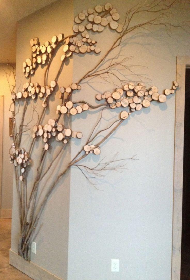 ideas originales de decoración con ramas para la casa