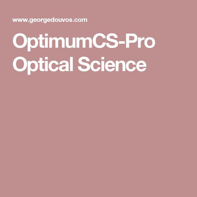 OptimumCS-Pro Optical Science