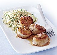 Seared Scallops with Blood Orange-Shallot Sauce