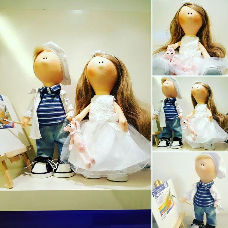 My new handmade dolls Honzík a Bětka ❤