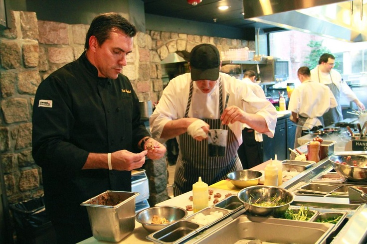 Chef Todd English, getting down to business. The guests were truly in for a treat!