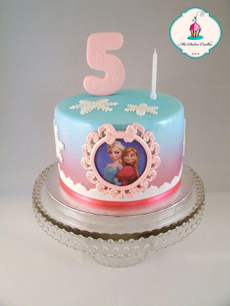 Tarta de cumpleaños frozen