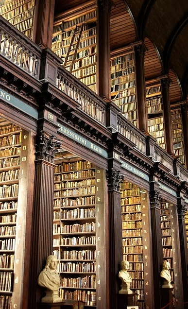 Sigh, I wish this were our library.  I believe this is the library at Trinity in Dublin.   It is a completely awesome library... Enough said