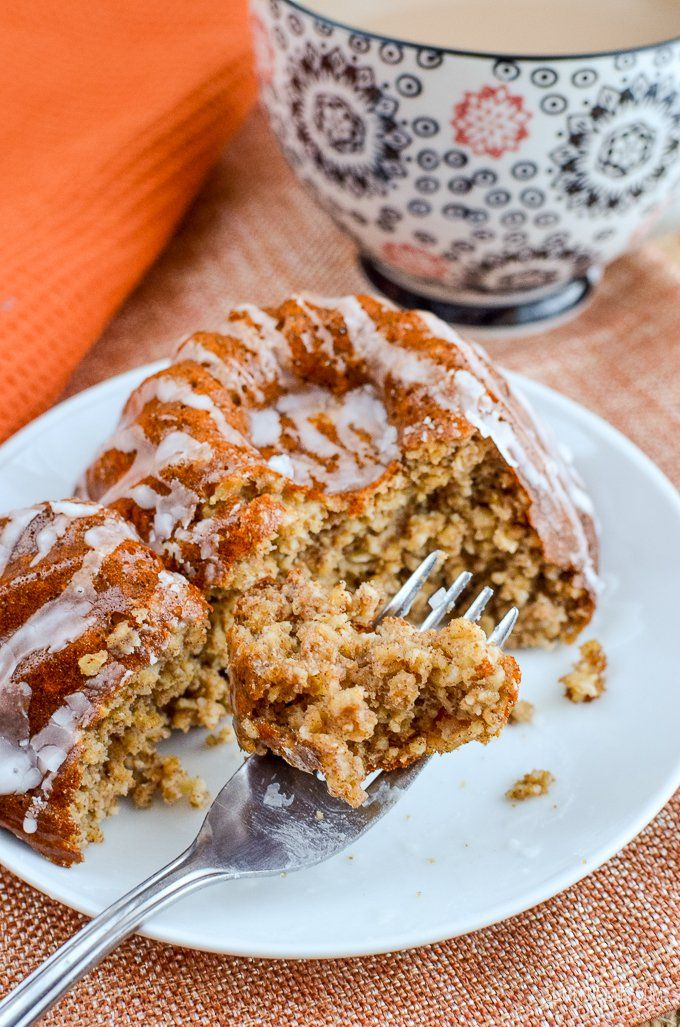 Gingerbread Baked Oats with the delicious flavours of ginger and molasses finished off with a delicate drizzle of icing.