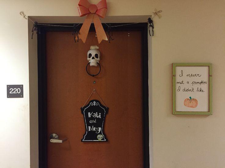 Halloween dorm door decor  Personal Pictures  Pinterest  ~ 233832_Halloween Dorm Room Decorating Ideas