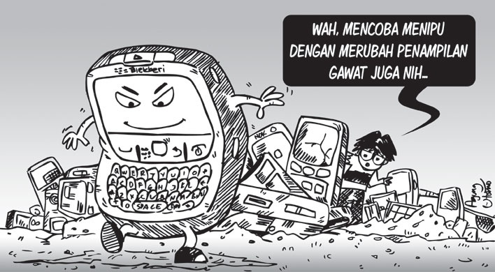 Opini-18September2012-Blackberry Rekondisi. #sketch #illustration #drawing