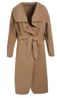 Boohoo Kate Belted Shawl Collar Coat - One Size (Camel) http://go.magik.ly/r/arzanblogs/16eb1/