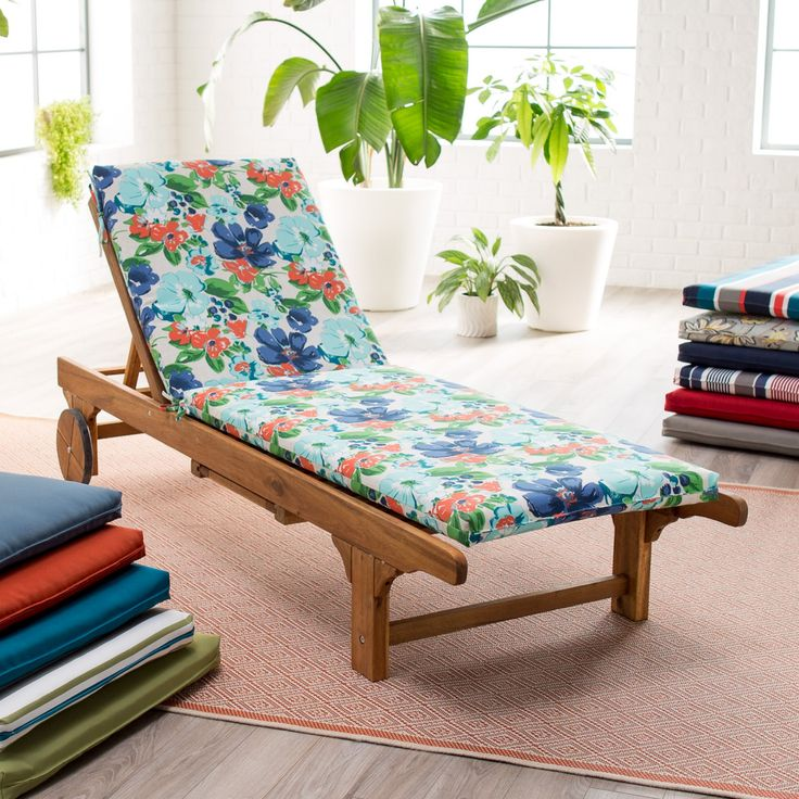 Coral Coast Classic 72 x 22 in. Chaise Lounge Outdoor Cushion - M063-1-AFS011-NAVY