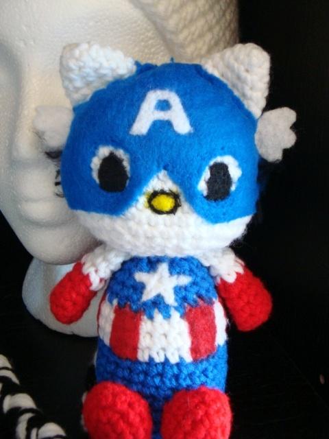iBcraftie Crochet Original Design  Captain America Kittie