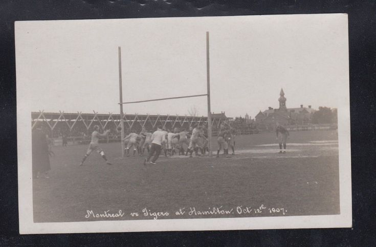 1907 MONTREAL ALOUETTES HAMILTON TIGER CATS Football