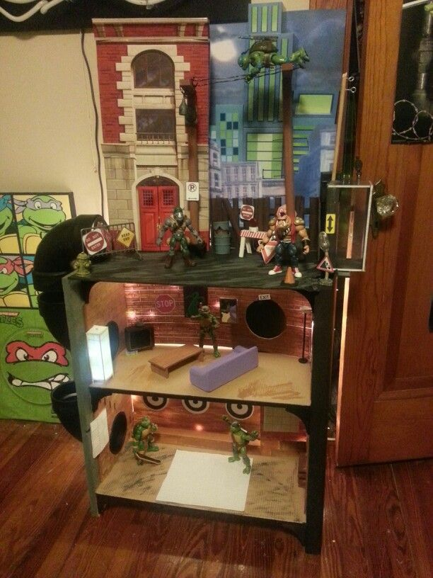 Custom Tmnt Classics Playset Playset Diy Doll House For