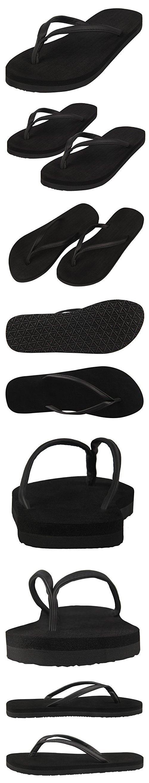b72eea6d289 4How Woman Flip Flop Sandal Black US Size 7 M