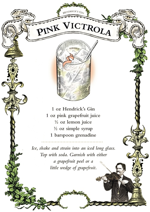 The Hendrick's Gin Pink Victrola « The Unusual Times