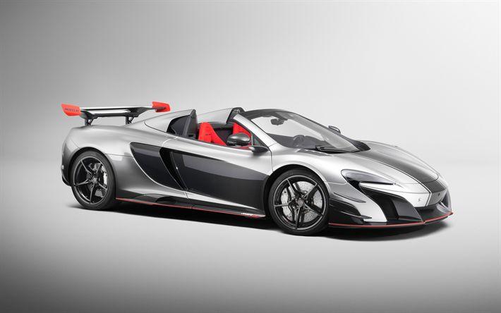 Download wallpapers McLaren MSO R Spider, 2018 cars, supercars, McLaren