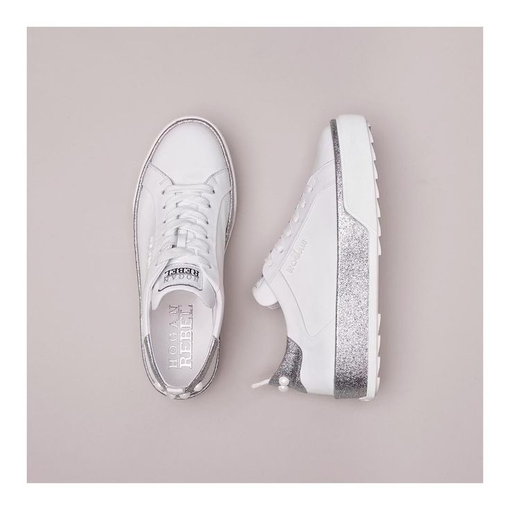 The #HOGAN #H320 #sneakers in fresh tones of white and silver  Join the #HoganClub #lifestyle and share with us your @hoganbrand pictures on Instagram