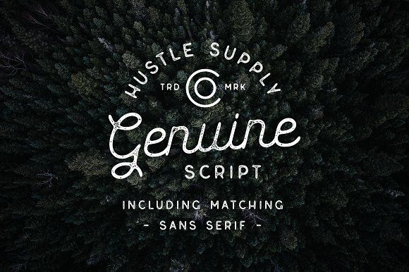Genuine Script - Textured Type Duo by Hustle Supply Co. on @creativemarket