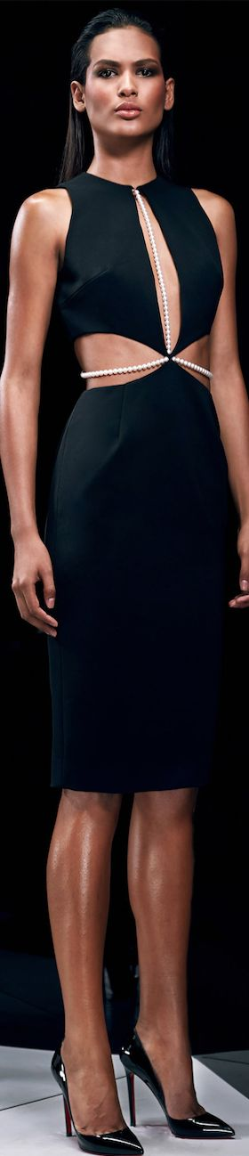 CUSHNIE ET OCHS Pre-Fall 2014. Amazing dress! Will be my first LBD purchase for this fall! OMG!