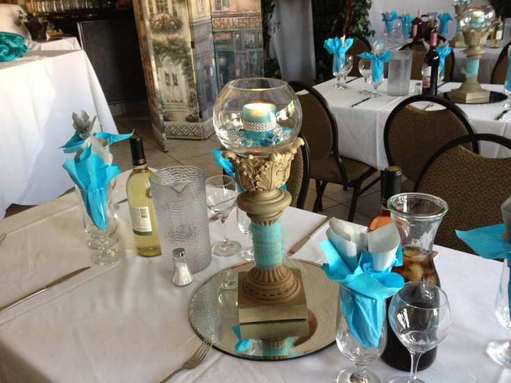 Aqua and gold theme, perfect for any summer occasion