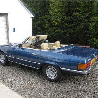 Self-Drive Classics - 1 Day Classic Car Hire - Mercedes 350SL (Weekend) Location: Donegal, Ireland. Explore the highways and byways of beautiful Donegal in a classic Mercedes 350SL.