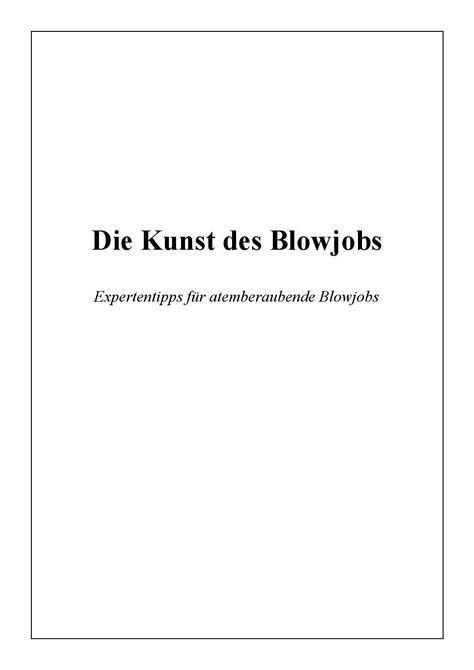 Die Kunst des Blowjob