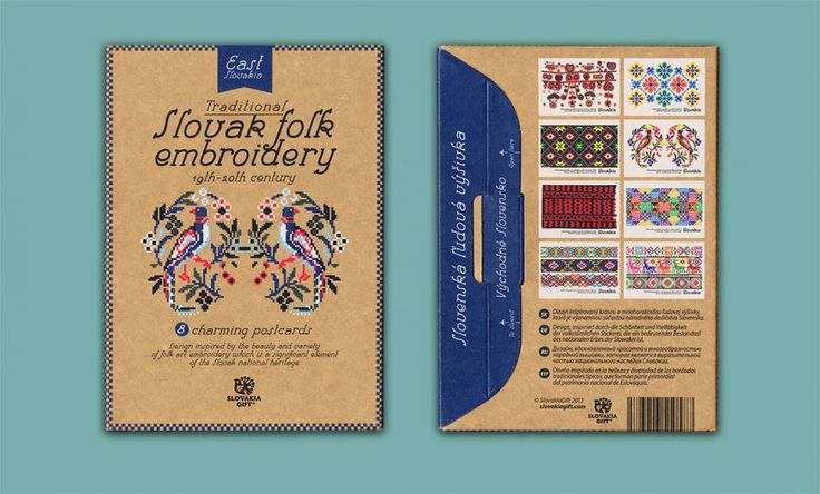 Postcard set - Folk Embroidery Patterns of East Slovakia