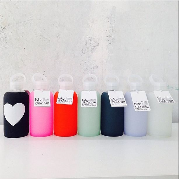 Best. Water bottles. Ever. My BKR. Crate and Barrel has these now! I like the one with the heart.