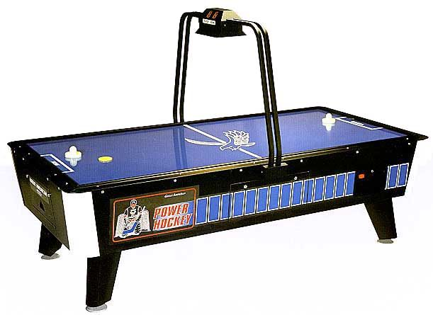No hockey man cave would be complete without an air hockey table