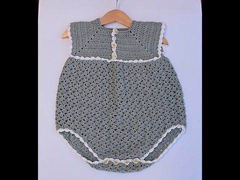 Pelele ,enterizo o jardinero a crochet parte 1 #tutorial #paso a paso #DIY - YouTube