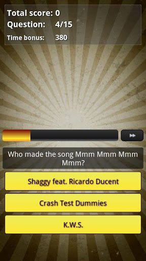 "1990s Music hits quiz is a thrilling 1 player and 2 player trivia game about music hits from the 1990s - who made the song?.<p>How well do you know you the most popular music hits from the 1990s? Here is the chance to test your music skills and see if you're as good as you think.<p>Please note that questions are in English.<p>Like us on Facebook to get exclusive news!!<br><a href=""https://www.google.com/url?q=http://www.facebook.com/fliskoapps&sa=D&usg=AFQjCNFK7R0c7f6jDYSzV-4GTXW842Oz1Q""…"