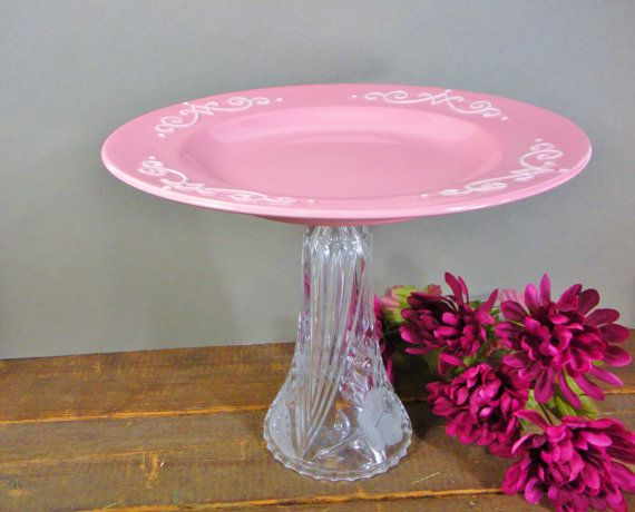 Wedding centerpiece vintage cake stand cupcake by