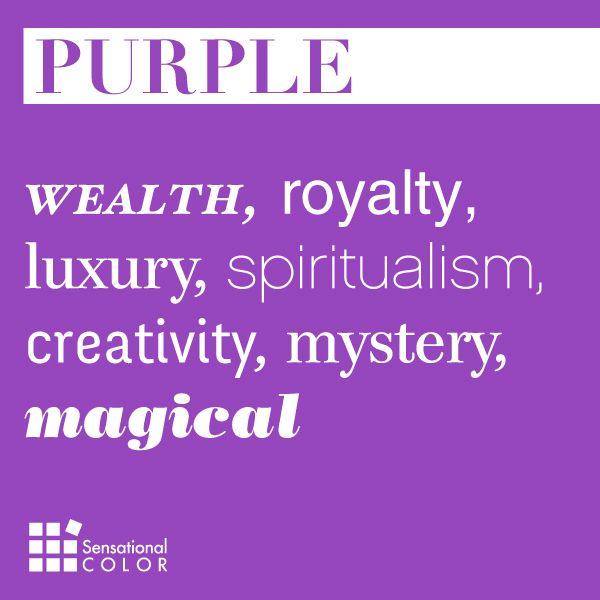 Words That Describe Purple - Sensational Color