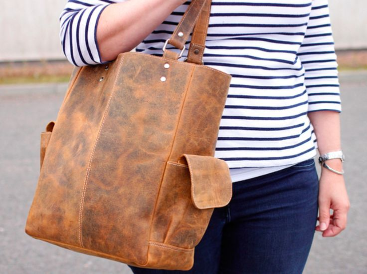 Get set this season with a new brown tote bag.  This classic handbag will be wonderful for you warmer month activities, it's comfortable to carry and holds all you need for a day out. #totebag #vintage #leather #giftforher #giftidea