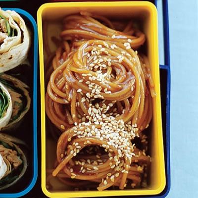 Lighter Sesame Noodles Recipe — Dishmaps