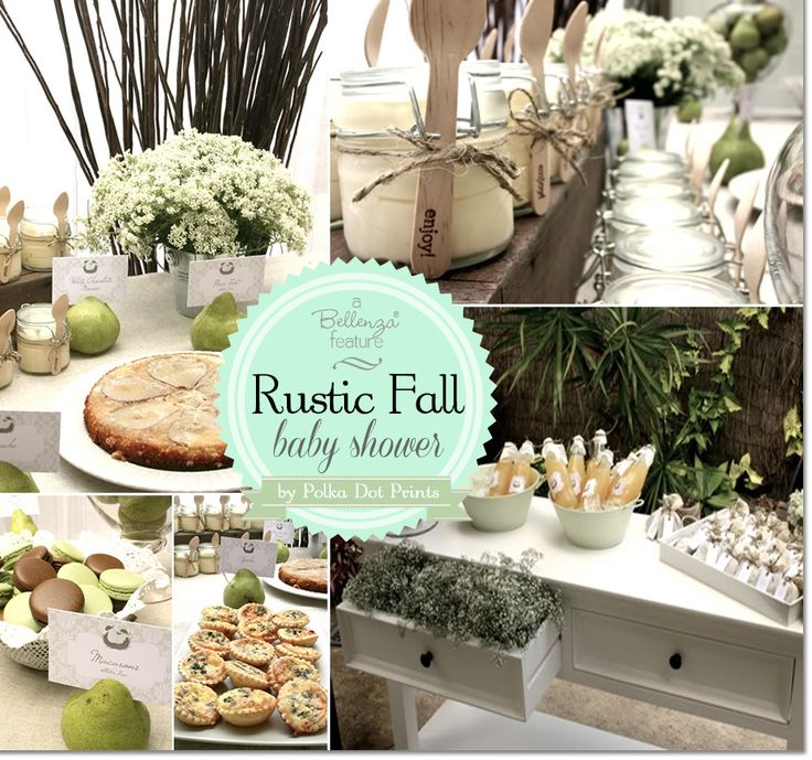 A Gorgeous Rustic Fall Baby Shower with a Perfect Pair Theme