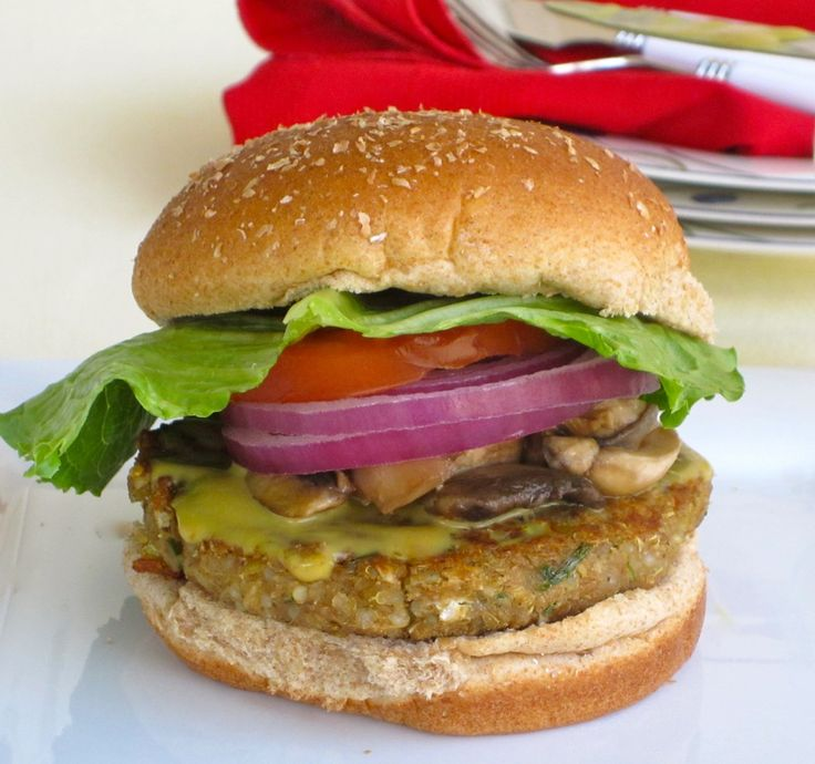 Quinoa Lentil Burger. Once prepared it only takes 10 min. to cook.